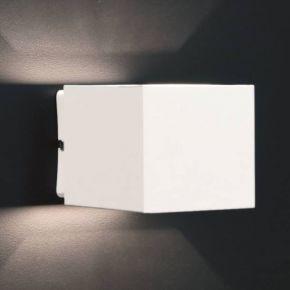LightUp Επίτοιχο Τετράγωνο Φωτιστικό Με 2 Εξόδους Ευρείας Δέσμης IP20