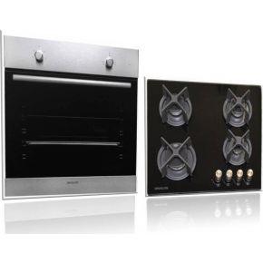 Davoline Φούρνος Εντοιχιζόμενος OBD 6000 + Κρυστάλλινη Εστία Γκαζιού GOG 400 BL