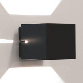 LightUp Επίτοιχο Τετράγωνο Φωτιστικό Με 2 Εξόδους Ευρείας Δέσμης & 2 Στενής Δέσμης IP20