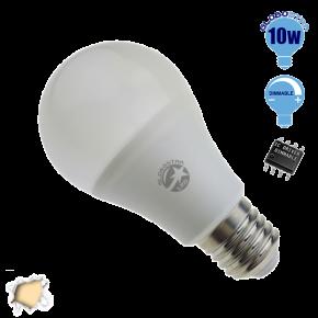 Γλόμπος LED A60 με βάση E27 GloboStar 10 Watt 230v Θερμό Dimmable
