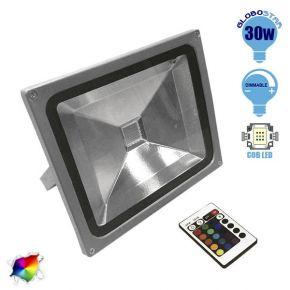Προβολέας LED Globostar 30 Watt  230 Volt RGB με Ασύρματο Χειριστήριο