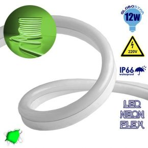 LED NEON FLEX 230 Volt Πράσινο IP66 Dimmable