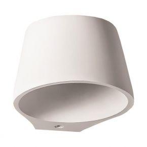 Eurolamp Απλίκα Τοίχου Στρογγυλή Γύψινη E14 6W