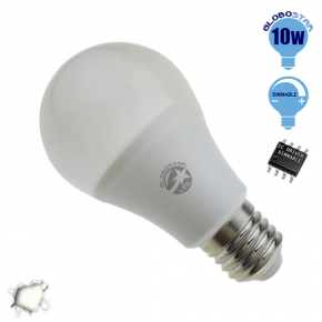Γλόμπος LED A60 με βάση E27 GloboStar 10 Watt 230v Ημέρας Dimmable