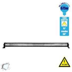 Μπάρα LED 675W TRI-ROW 7D CREE & SMD 2835 10-30v DC Ψυχρό Λευκό 81000 Lumen