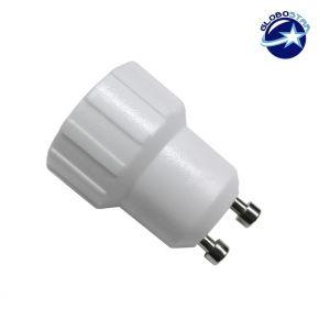 Πλαστικός Αντάπτορας από GU10 σε E14 GloboStar 01414