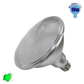 Λαμπτήρας LED PAR38 E27 18 Watt Πράσινο