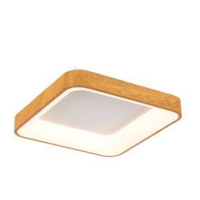 InLight Πλαφονιέρα οροφής από καφέ μέταλλο και ακρυλικό (42174-Α)