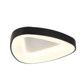 InLight Πλαφονιέρα οροφής από μαύρο μέταλλο και ακρυλικό (42175-Α)