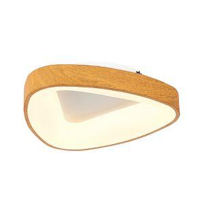 InLight Πλαφονιέρα οροφής από καφέ μέταλλο και ακρυλικό (42176-Β)