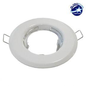 Χωνευτή Στρογγυλή Βάση για Spot Φ83 Λευκή Σταθερή