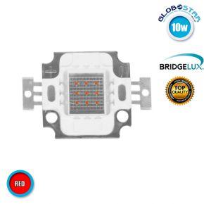 Υψηλής Ισχύος COB LED BRIDGELUX 10W 6-8V 600lm Κόκκινο GloboStar 46305