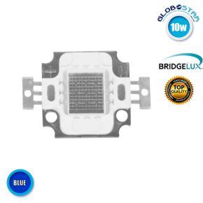Υψηλής Ισχύος COB LED BRIDGELUX 10W 9-11V 600lm Μπλε GloboStar 46307