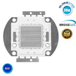 Υψηλής Ισχύος COB LED BRIDGELUX 30W 32V 1800lm Μπλε GloboStar 46310