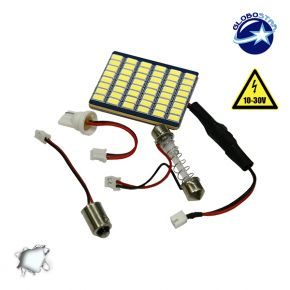 Πλακέτα LED PCB με 48 smd 5630 12-24 Volt Ψυχρό Λευκό GloboStar 40168