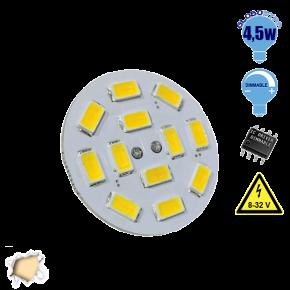 G4 12 smd 5630 Back Pin 8-32 Volt 4.5 Watt DC Θερμό Λευκό
