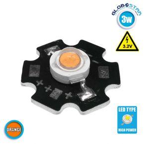 Υψηλής Ισχύος Star LED High Power 3W 3.2V Πορτοκαλί GloboStar 47045