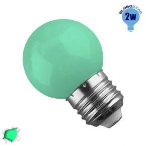 Λάμπα LED E27 G45 Mini Γλόμπος 2W 230V 260° Πράσινο GloboStar 64005