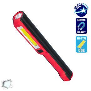 Φορητός Φακός PEN COB LED Κόκκινο Χρώμα