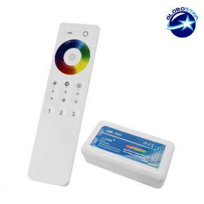 Σετ Ασύρματο RF 2.4G LED Controller Αφής RGB 12-24 Volt για Ένα Group
