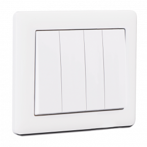 Makel British Standard Διακόπτης 4G Λευκός