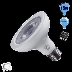 Λαμπτήρας LED E27 PAR30 Globostar 12 Μοίρες 15 Watt 230v Ημέρας Dimmable