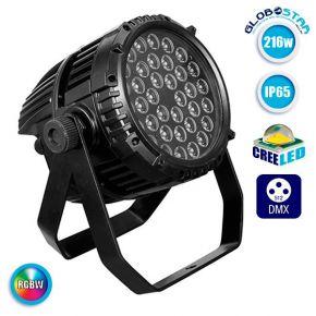 LED PAR Κεφαλή CREE 216 Watt RGBW BEAM WASH IP65 High Quality DMX512 GloboStar 51129
