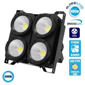 Προβολέας LED COB DMX512 Strobe Blinder Matrix Light 400 Watt (4x100w) Ψυχρό Λευκό 6000k GloboStar 51161