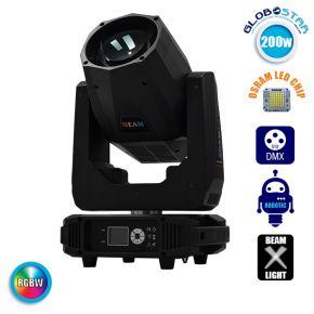 Επαγγελματική Κινούμενη Ρομποτική Κεφαλή BEAM CREE LED ΖΟΟΜ 2° 200W 230V DMX512 RGBW GloboStar 51167