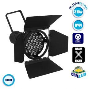 Θεατρικός Προβολέας Εκθέσεων DMX512 CREE LED 310 Watt 230v IP44 Ψυχρό Λευκό 6000k GloboStar 51166