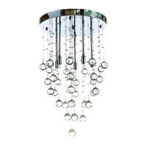InLight Φωτιστικό οροφής από χρώμιο μέταλλο και διάφανα κρύσταλλα (5201-Β)
