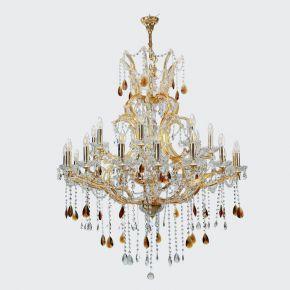 InLight Κρεμαστό φωτιστικό από χρυσό μέταλλο γυαλί και κρύσταλλα (5247-27-Χρυσό)
