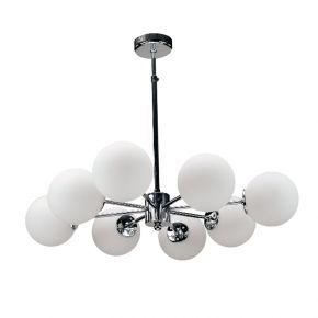 InLight Κρεμαστό φωτιστικό από χρώμιο μέταλλο και λευκή οπαλίνα (5321-8)