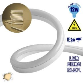 LED NEON FLEX 230 Volt Θερμό Λευκό IP66 Dimmable
