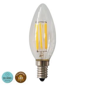SL LED Λάμπα 6W E14 C35 360° Filament Glass