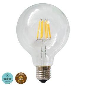 SL LED Λάμπα 8W E27 G125 360° Filament Glass