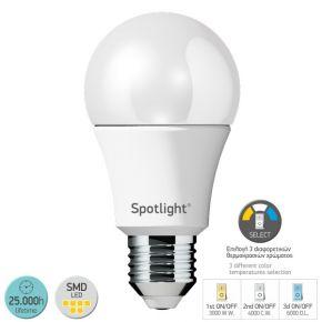 SL LED Λάμπα 10W E27 A60 Switch Temp