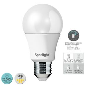 SL LED Λάμπα 10W E27 Α60 Switch Dimmable
