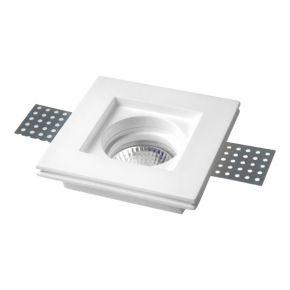SL Γύψινο Spot Χωνευτό Τετράγωνο GU10 10x10cm IP20