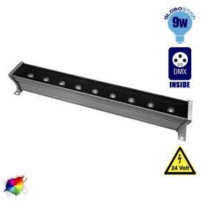 LED Wall Washer 9 Watt 50cm 24v RGB DMX 512