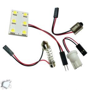 Πλακέτα LED PCB με 6 smd 5050 Ψυχρό Λευκό GloboStar ST-PCB-6-SMD-5050