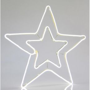 Eurolamp Διπλό Αστέρι Λευκό Neon 22.5W IP44