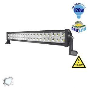 Μπάρα LED 120W CREE Combo 10-30v DC Ψυχρό Λευκό