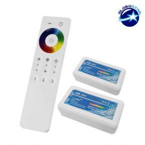 Σετ Ασύρματο RF 2.4G LED Controller Αφής RGB 12-24 Volt για Δυο Groups