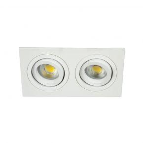VK Spot Τετράγωνο Διπλό Κινητό Αλουμινίου GU10 175x93x28mm IP20