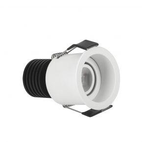 VK LED Spot 3W Στρογγυλό Mini Ματ Λευκό Χωνευτό IP20 55mm