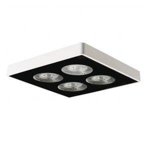 VK LED Spot Φωτιστικό Οροφής 12W Τετράγωνο Αλουμινίου IP20