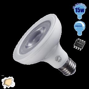 Λαμπτήρας LED E27 PAR30 Globostar 12 Μοίρες 15 Watt 230v Θερμό Dimmable