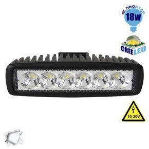Μπάρα Φωτισμού LED 18 Watt 10-30 Volt DC Ψυχρό Λευκό