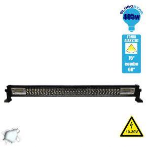Μπάρα LED 405W TRI-ROW 7D CREE & SMD 2835 10-30v DC Ψυχρό Λευκό 48600 Lumen